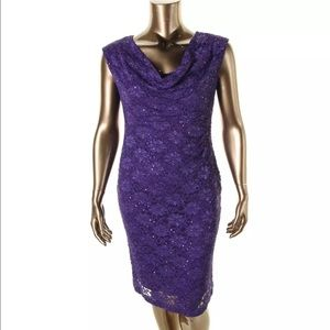 Connected Apparel Dresses & Skirts - Connected Apparel Purple Lace Sequined dress 10