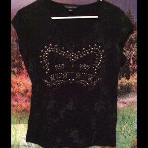Rock & Republic Tops - Super cute Rock & Republic studded black T-shirt