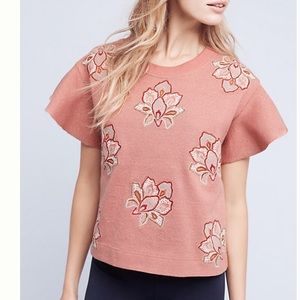 Chloe Oliver pink embroidered top nwt
