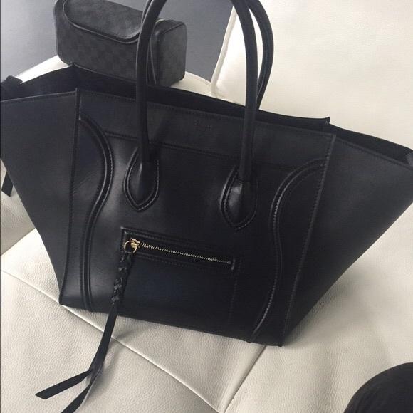6ecb9165c035 NWT Authentic Celine Phantom Black leather bag
