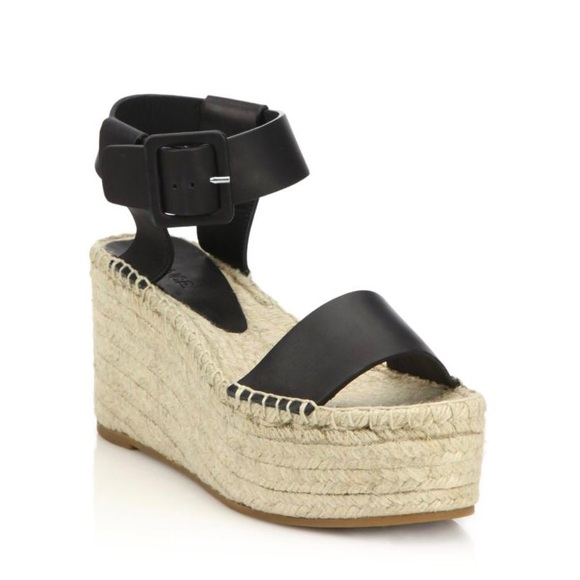 f8313310b13 VINCE Abby Leather Espadrille Sandals. M 589bccf42ba50ad4240261c6