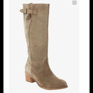 Tall Suede Boots with Wide Calf