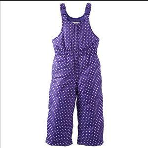 Osh Kosh Other - Osh Kosh B'Gosh Girl's Purple Snow Bib, Size 2T