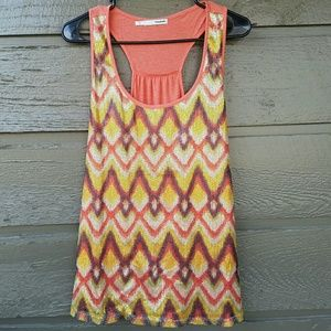 Maurices Tops - Maurices Sequin Front Aztec Tank