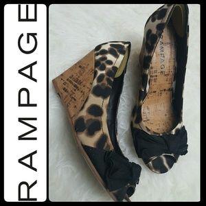 Rampage Shoes - Rampage Peep Toe Wedges