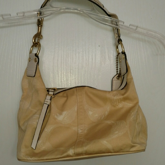 Coach bag tan fabric Authentic