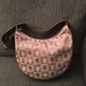 Anne Klein Handbags - Anne Klein Brown/Beige Logo Hobo Handbag