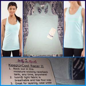 Ivivva Tops - NWT Ivivva Keep Ur Cool Racerback 14 aquamarine