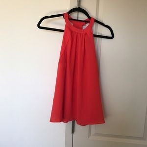 H&M Halter Top Coral Red