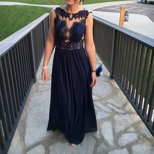 Sherri Hill Dresses & Skirts - Dark Blue Sherri Hill Prom Dress