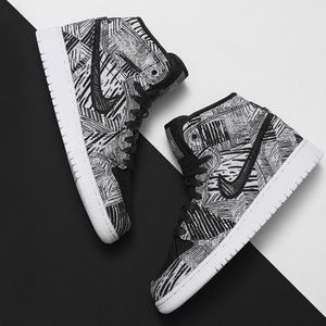 Nike Other - Nike Black & White BHM Jordan's