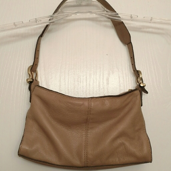 Liz Claiborne NYC Small Tan Soft Leather Purse
