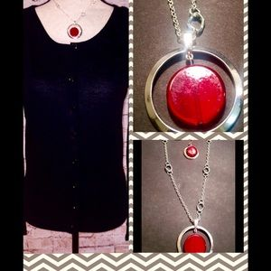 Jewelry - Swivel Pendant Necklace and Earring Set