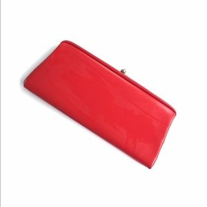 Vintage Handbags - Vintage red leather clutch