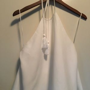 English Factory Tops - White Boho Type Halter Top size M