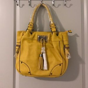 Yellow Large shoulder bag