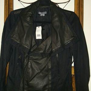 Rare Vince Linen & Leather Jacket!!!