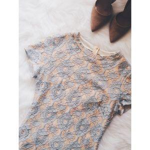 sage Dresses & Skirts - Light Blue & Cream Dress (PRICE FIRM)