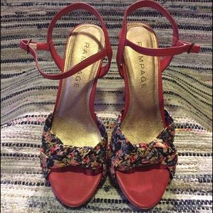 Rampage Shoes - Rampage Floral High-Heeled Sandals