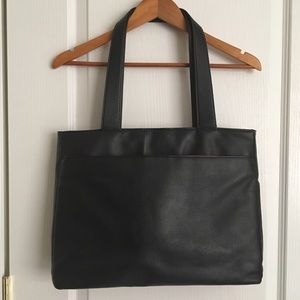 Black Laptop Tote Shoulder Bag