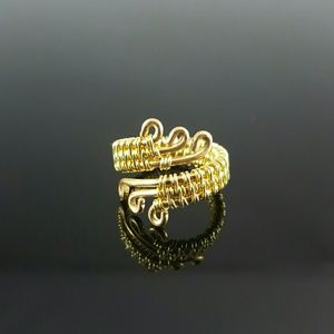 DGwiring Jewelry - Gold Wire Wrapped Ring Handmade