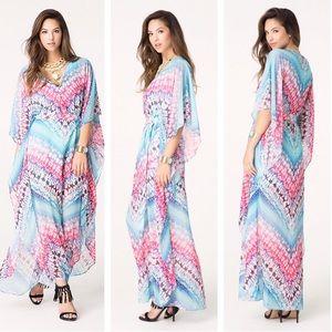 bebe Dresses & Skirts - bebe Tie-Dye Maxi Dress Kaftan