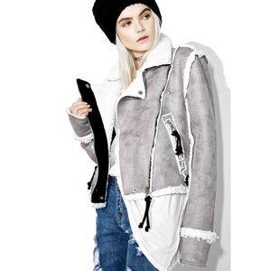 Dollskill Olivier Faux Shearling Jacket small
