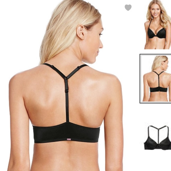 507717624879d BNWT PINK VS wear everywhere T-back push-up bra