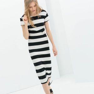 {Zara} striped sheath dress