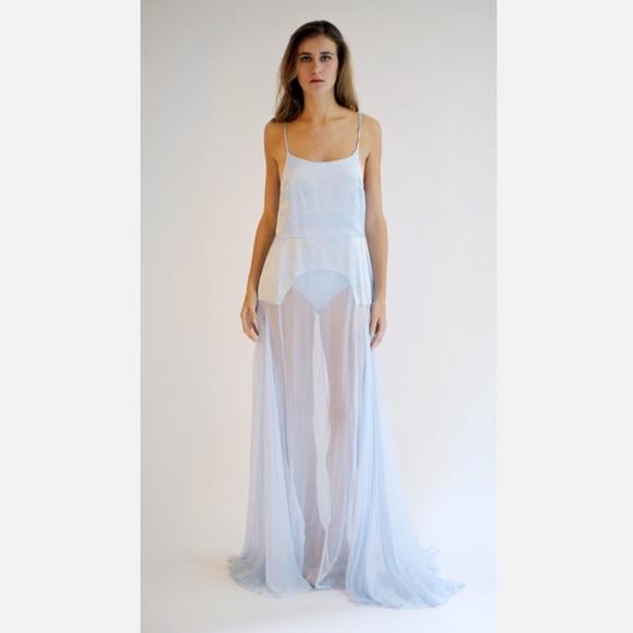 b7d612e8070 Leanne Marshall light blue silk gown – 2 4