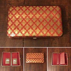 Amor Adore Handbags - 11. Red/Gold Hananel Wallet