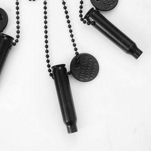 Half United Jewelry - ☆ Matte Black Bullet Necklace