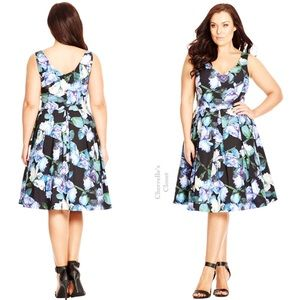 NEW! City Chic Fit & Flare Dress Plus Size 14/16