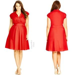 City Chic Dresses & Skirts - City Chic Retro Chic Fit & Flare Dress Plus Size