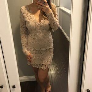 Dresses - Nude lace dress