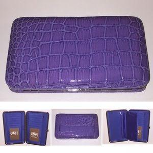 Amor Adore Handbags - 1. Purple Snake Print Hananel Wallet