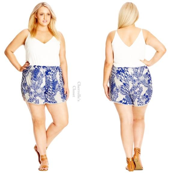 97165150cb0 City Chic Zig Zag Short Shorts Plus Size