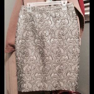 Ann Taylor Skirts - Jacquard Pencil Skirt || Ann Taylor