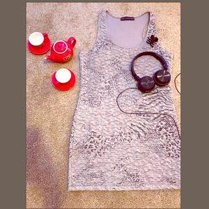 Beige Subtle Cheetah Print Dress Sz L