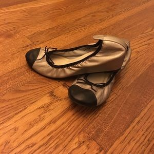 Restricted Shoes - New black and gold wedges