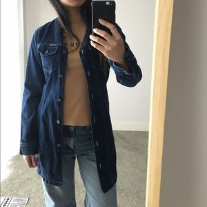 Vintage Jackets & Blazers - Vintage Calvin Klein Long Jean Jacket