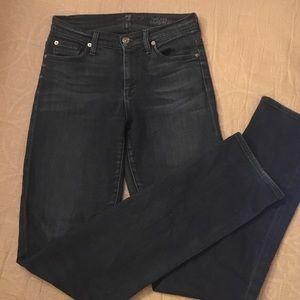 7 For All Mankind Denim - Seven For All Mankind Dark Midrise Straight Jeans