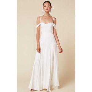 REFORMATION Poppy Dress in White/Ivory SIZE 8
