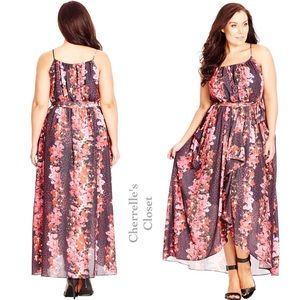 City Chic Dresses & Skirts - NEW! City Chic Romantic Frill Maxi Dress Plus Size