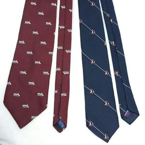 Set Of 2 County Club vintage tie neckie