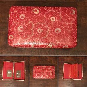 Amor Adore Handbags - 17. Red Floral Print Hananel Wallet.