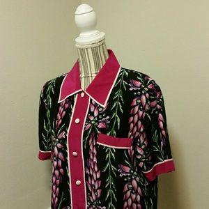 Bob Mackie Tops - ⬇️Bob Mackie 100% Silk 2 Piece Floral Blouse