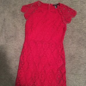 Forever 21 Dresses & Skirts - Beautiful Red Lace Dress - Size M