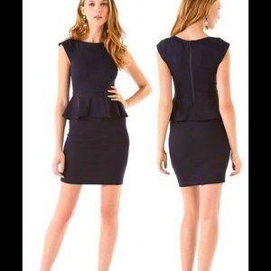 Alice + Olivia Black Victoria Peplum Dress