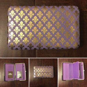 Amor Adore Handbags - 18. Lavender/Gold Hananel Wallet